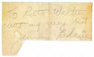 Jimmy Blaine's Autograph