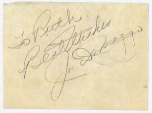 Joe DiMaggio's Autograph