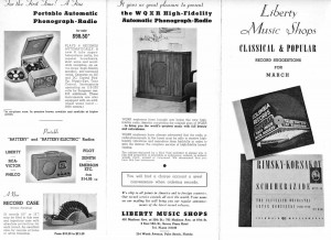 Liberty Music Shop Flyer Offering Label's Recordings March 1940 Page 4