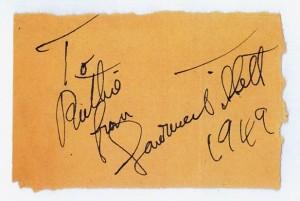 Lawrence Tibbett's Autograph