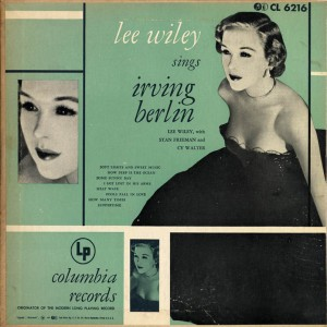 Lee Wiley Sings Irving Berlin Cover