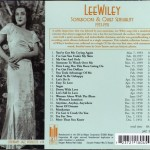 Lee Wiley Songbooks And Quiet Sensuality 1933-1951 CD Back Cover
