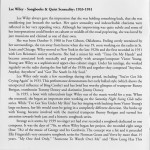 Lee Wiley Songbooks And Quiet Sensuality 1933-1951 CD Liner Notes Page 2
