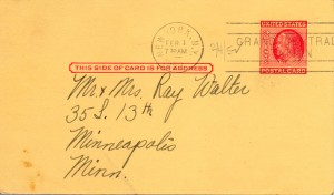 The Little Club 02.11.1952 Postcard Announcement Front