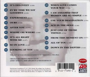 Mabel Mercer Sings Cole Porter CD Back Cover