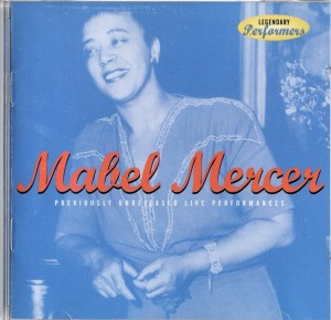 Mabel Mercer Previously Unreleased Live Performances Harbinger CD Cover