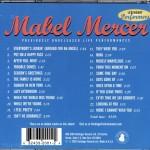 Mabel Mercer Previously Unreleased Live Performances Harbinger CD Back Cover