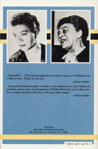 Mabel Mercer A Life Back Cover