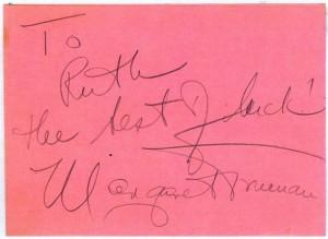 Margaret Truman's Autograph