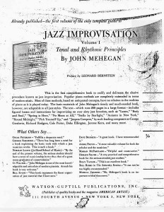 John Mehegan's Jazz Improvisation Vol. II Back Cover