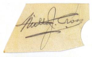 Milton J. Cross' Autograph