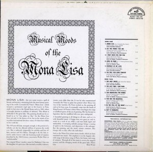 Musical Moods Of The Mona Lisa LP Back Cover