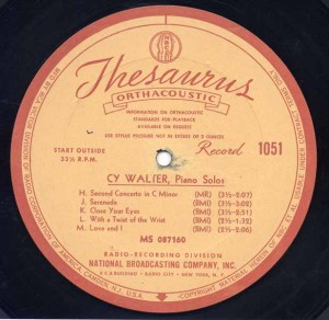 NBC Thesaurus Transcription Disc No. 1051 Circa 1942