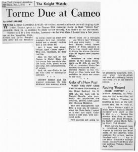 New York Journal American 03.01.1956