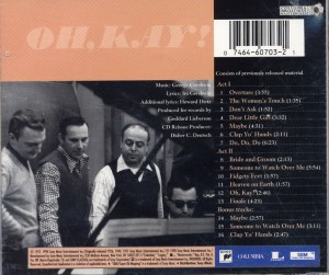 Oh, Kay! CD Back Cover