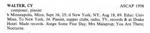 ASCAP Biographical Dictionary Page 527 Excerpt  (Note:  Cy was born in 1915, not 1925)