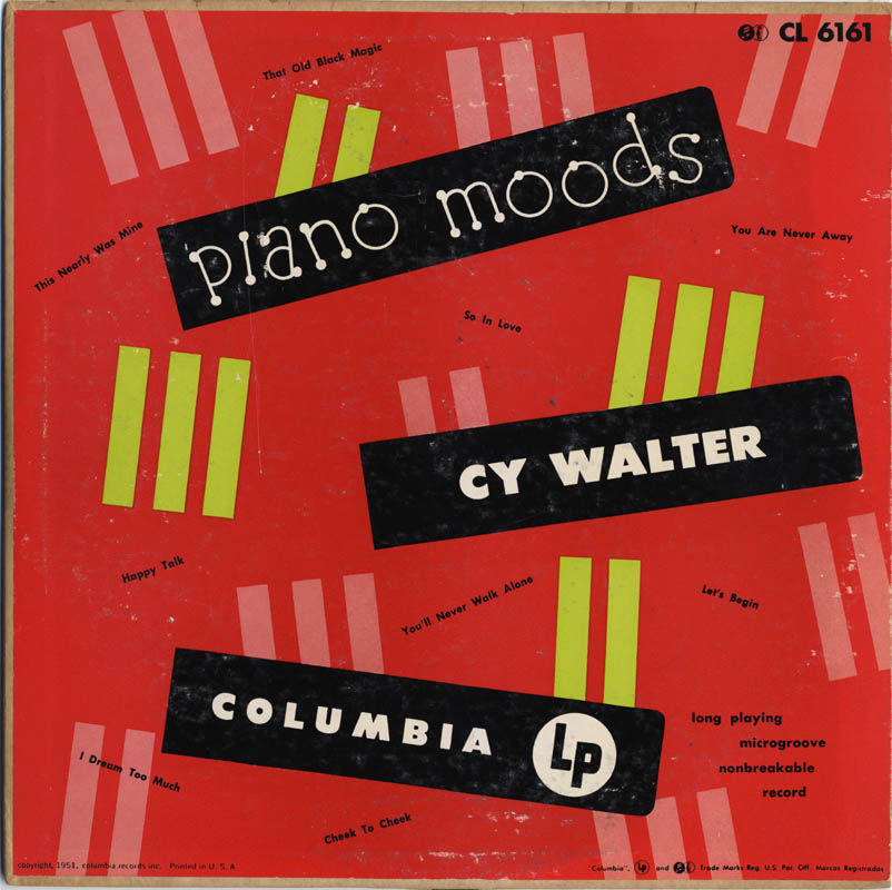 Cy Walter - A Dry Martini Please