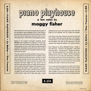 Piano Playhouse 10 Inch LP Back Cover