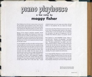 Piano Playhouse 78rpm Liner Notes