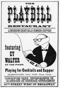 The Playbill Restaurant Hotel Manhattan Ad 1958