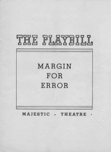 Playbill Cover 01.13.1939