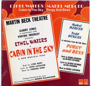 Porgy And Bess And Cabin In The Sky LP Cover