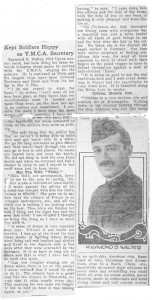 Raymond B. Walter Wartime Article