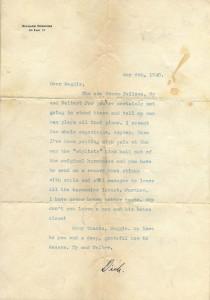 Richard Rodgers To Maggie Case Harriman 05.06.1940