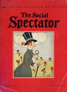 Social Spectator Magazine July 1960 Cover