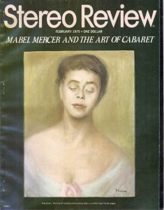 Stereo Review Magazine February 1975 Mabel Mercer And The Art of Cabaret Article Cover
