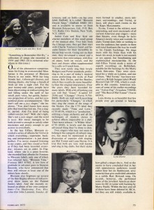 Stereo Review Magazine February 1975 Mabel Mercer And The Art of Cabaret Article Page 10