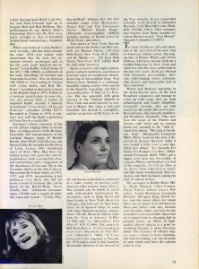 Stereo Review Magazine February 1975 Mabel Mercer And The Art of Cabaret Article Page 12