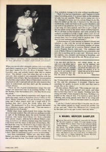 Stereo Review Magazine February 1975 Mabel Mercer And The Art of Cabaret Article Page 6