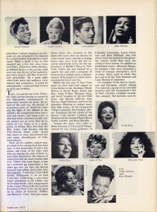 Stereo Review Magazine February 1975 Mabel Mercer And The Art of Cabaret Article Page 8