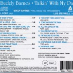 Buddy Barnes Talkin' With My Pal CD Back Cover
