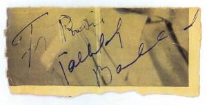Tallulah Bankhead's Autograph