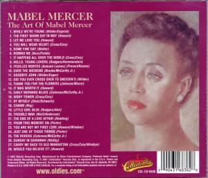 The Art Of Mabel Mercer CD Back Cover