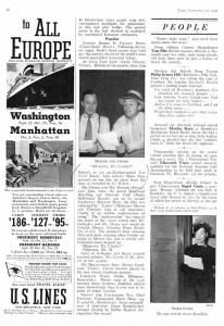 Time Magazine 09.12.1938