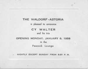 Waldorf-Astoria Peacock Lounge Peacock Alley 01.06.1958