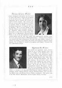 Who's Who Florence Greaves Walter And Raymond B. Walter 1925 Page 205